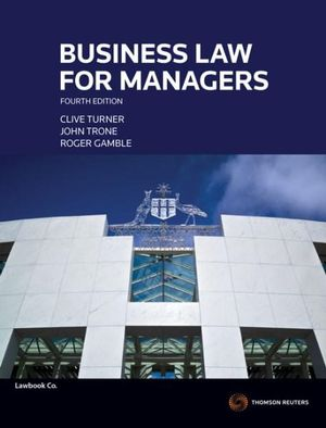 Cover of Business Law for Managers