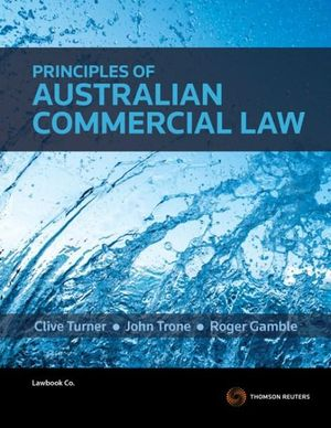 Cover of Principles of Australian Commercial Law
