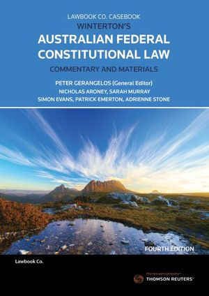 Cover of Winterton's Australian Federal Constitutional Law Commentary and Materials