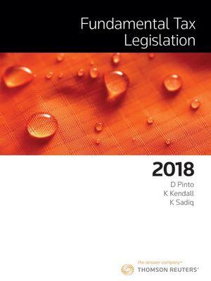 Cover of Fundamental Tax Legislation 2018