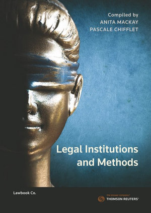 Cover of Legal Institutions and Methods