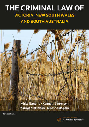 Cover of Criminal Law of Victoria, New South Wales and South Australia