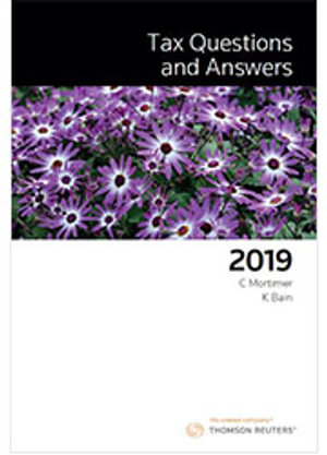 Cover of TAX QUESTIONS & ANSWERS 2019
