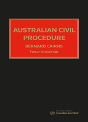 Cover of AUSTRALIAN CIVIL PROCEDURE.