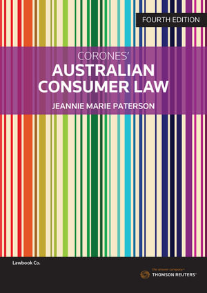 Cover of AUSTRALIAN CONSUMER LAW.