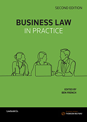 Cover of BUSINESS LAW IN PRACTICE.