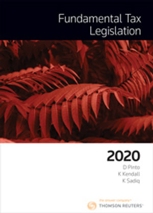 Cover of FUNDAMENTAL TAX LEGISLATION 2020