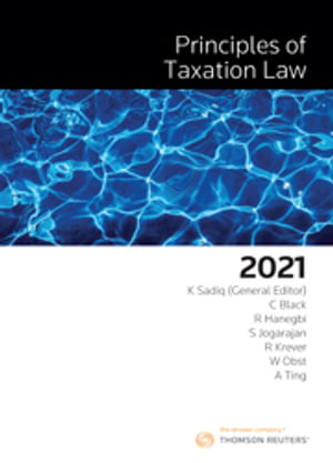 Cover of PRINCIPLES OF TAXATION LAW 2021