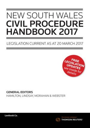 Cover of NSW Civil Procedure Handbook 2017