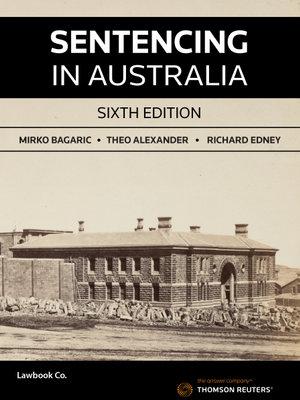 Cover of Sentencing in Australia
