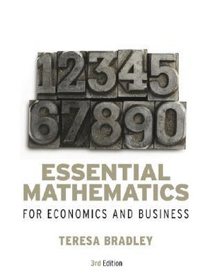 Cover of Essential Mathematics for Economics and Business 3E