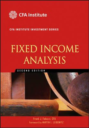 Cover of Fixed Income Analysis