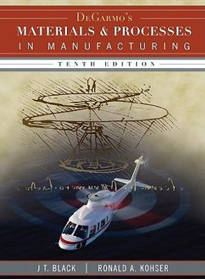 Cover of Materials and Processes in Manufacturing 10E (with DVD)