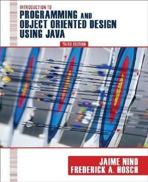 Cover of Introduction to Programming and Object-Oriented Design Using Java
