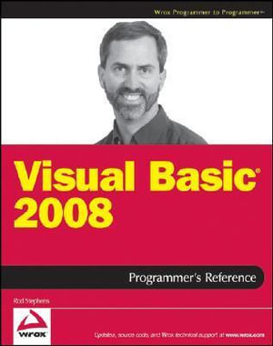 Cover of Visual Basic 2008 Programmer's Reference