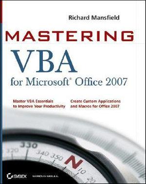 Cover of Mastering VBA for Microsoft Office 2007