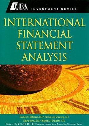 Cover of International Financial Statement Analysis