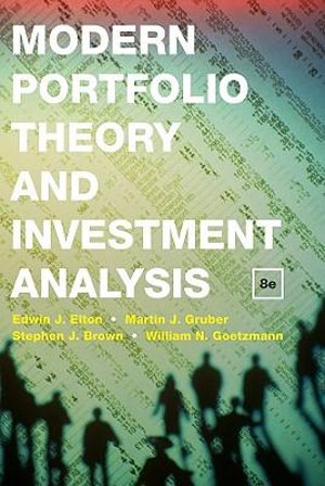 Cover of Modern Portfolio Theory and Investment Analysis 8E