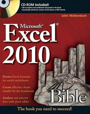Cover of Excel 2010 Bible