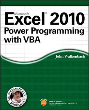 Cover of Excel 2010 Power Programming with VBA