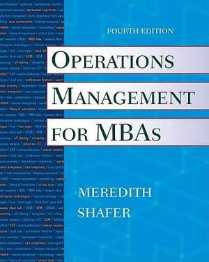 Cover of Operations Management for MBAs
