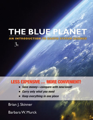 Cover of Blue Planet an Introduction to Earth System Science 3E Binder Ready Version