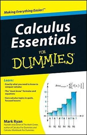 Cover of Calculus Essentials For Dummies