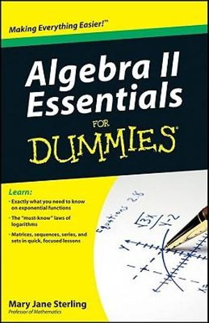 Cover of Algebra II Essentials For Dummies