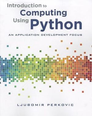 Cover of Introduction to Computing Using Python