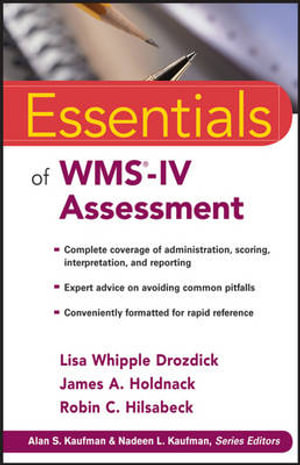 Cover of Essentials of Wms-iv Assessment