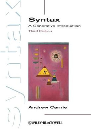 Cover of Syntax - a Generative Introduction 3E