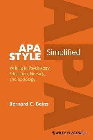 Cover of APA Style Simplified