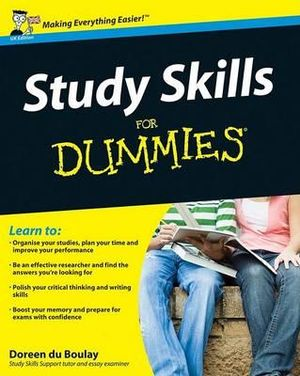 Cover of Study Skills for Dummies