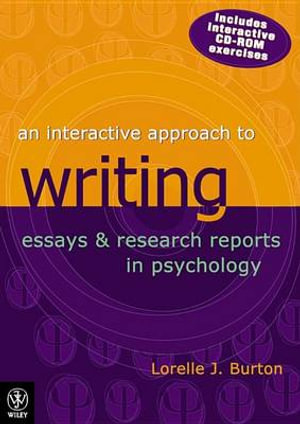 Cover of An Interactive Approach to Writing Essays and Research Reports in Psychology