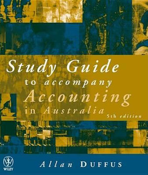 Cover of Accounting in Australia Study Guide