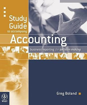 Cover of Study Guide to Accompany Accounting