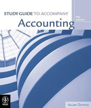 Cover of Study Guide to Accompany Accounting 6th Edition [by] Hoggett, Edwards & Medlin