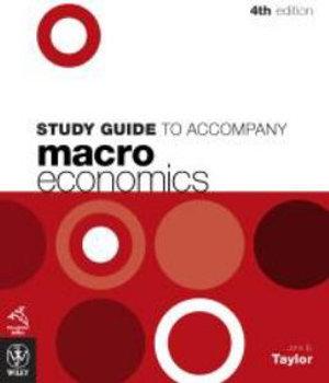 Cover of Study Guide to Accompany Macro Economics