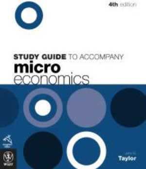 Cover of Study Guide to Accompany Microeconomics