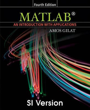 Cover of Matlab an Introduction with Applications 4E SI Version
