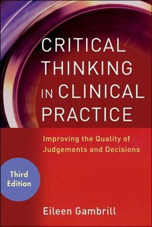 Cover of Critical Thinking in Clinical Practice