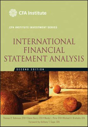 Cover of International Financial Statement Analysis (CFA Institute Investment Series)