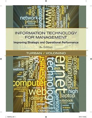 Cover of Information Technology for Management Improving Strategic and Operational Performance 8E