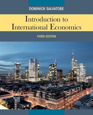 Cover of Introduction to International Economics 3E