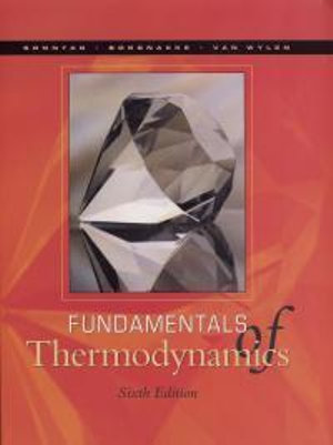Cover of Fundamentals of Thermodynamics