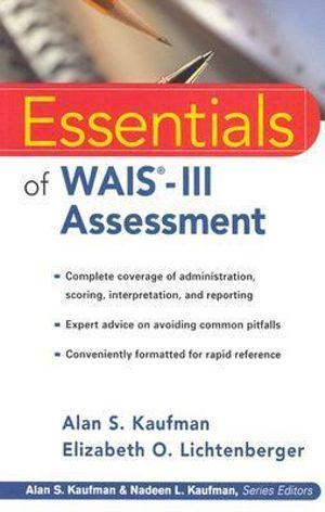Cover of Essentials of WAIS -III Assessment