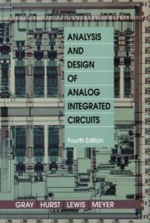 Cover of Analysis and Design of Analog Integrated Circuits