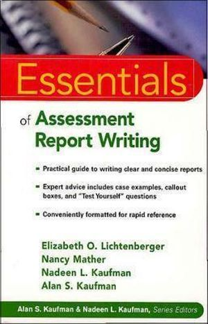 Cover of Essentials of Assessment Report Writing