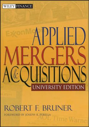 Cover of Applied Mergers and Acquisitions University Edition