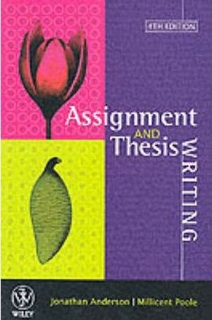 Cover of Assignment & Thesis Writing 4E